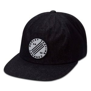 New Hurley Hat Black Denim